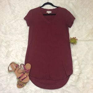 Anthropology Cloth & Stone Justine burgundy dress